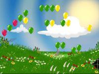 Zerplatze die Ballons im Frühling