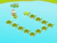 Springe auf die Schildkröten